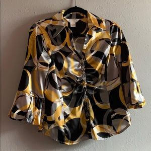 Vintage Allison Taylor Abstract Print blouses